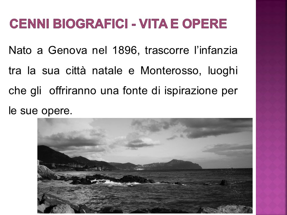 Cenni biografici - Vita e opere