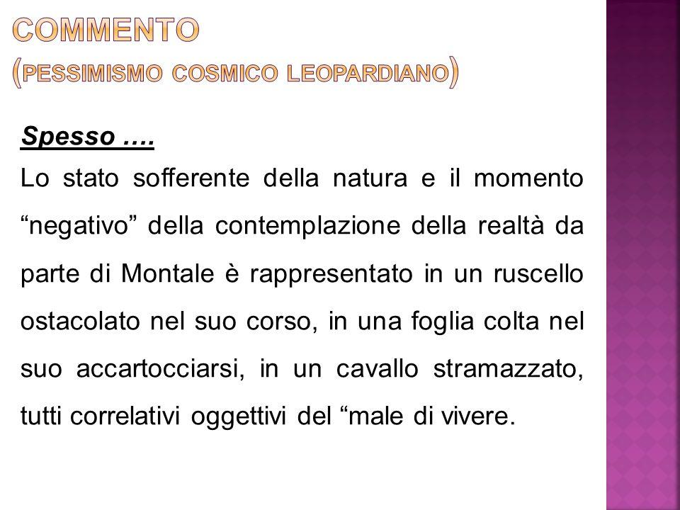 Commento (pessimismo cosmico leopardiano)