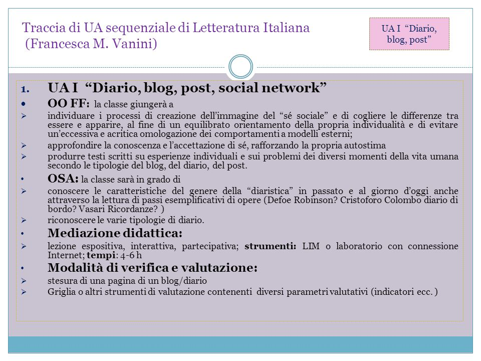 UA I Diario, blog, post, social network