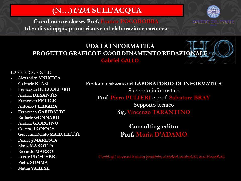 (N…)UDA SULL'ACQUA Consulting editor Prof. Maria D'ADAMO
