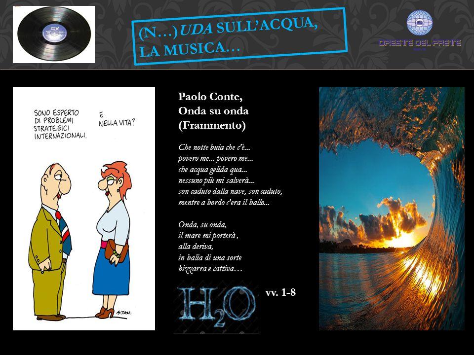 (N…)UDA SULL'ACQUA, LA MUSICA… Paolo Conte, Onda su onda (Frammento)