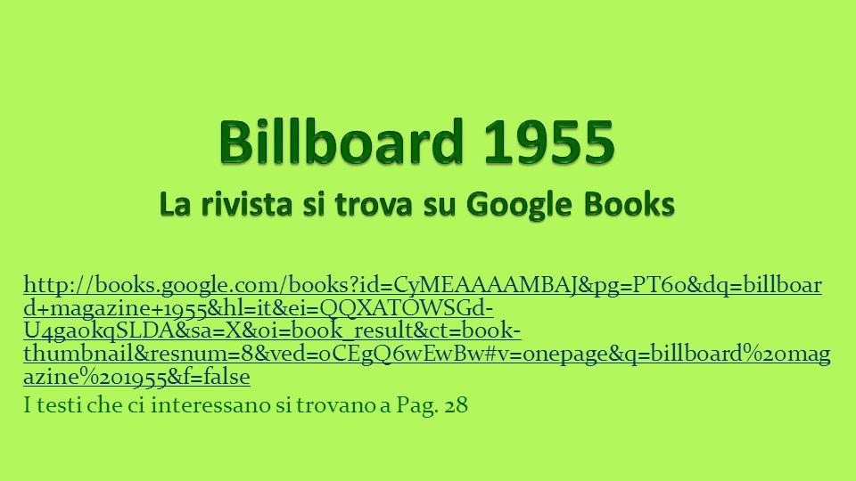 Billboard 1955 La rivista si trova su Google Books