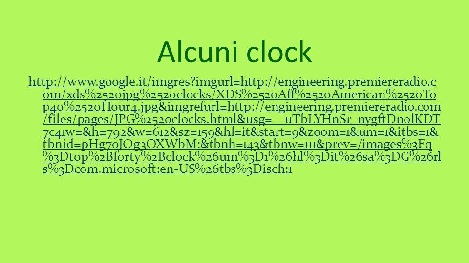 Alcuni clock