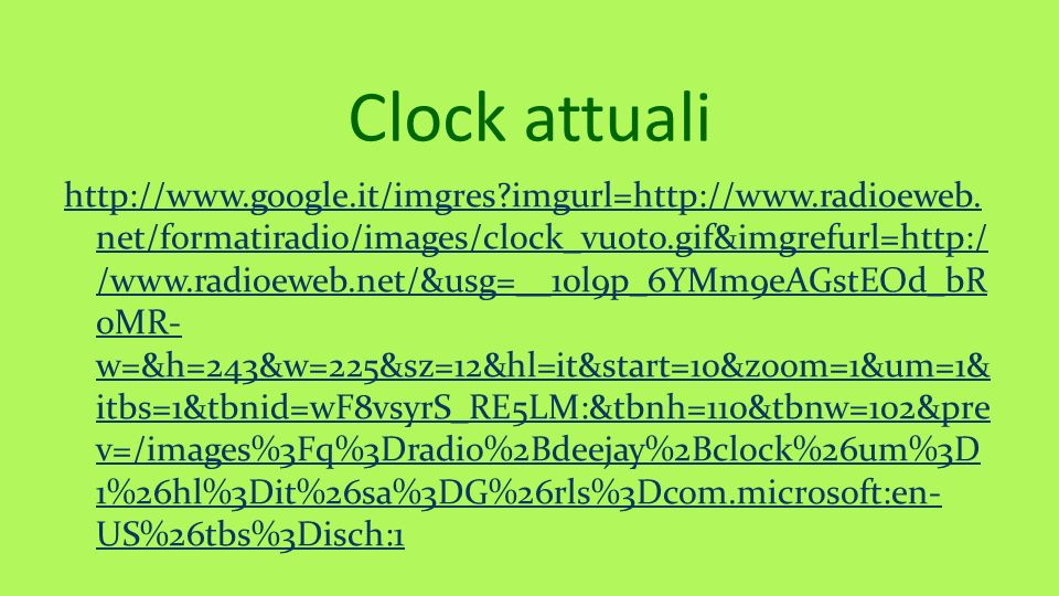 Clock attuali