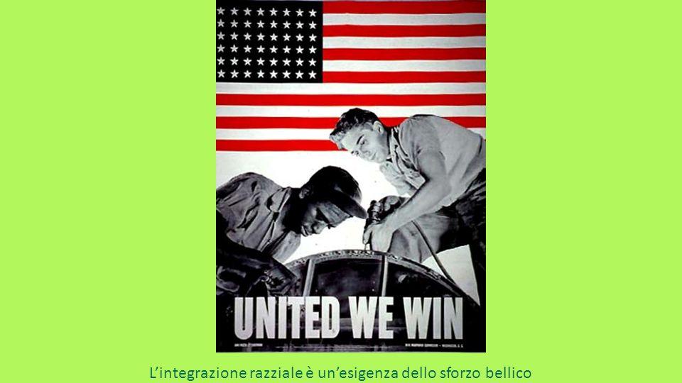 L'integrazione razziale è un'esigenza dello sforzo bellico