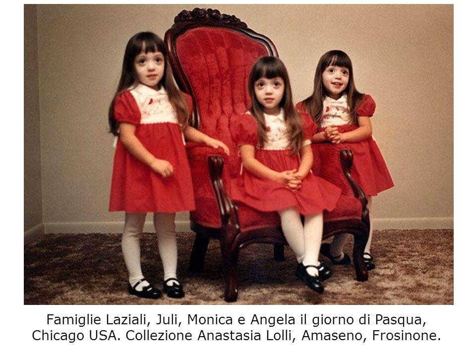 Famiglie Laziali, Juli, Monica e Angela il giorno di Pasqua, Chicago USA.