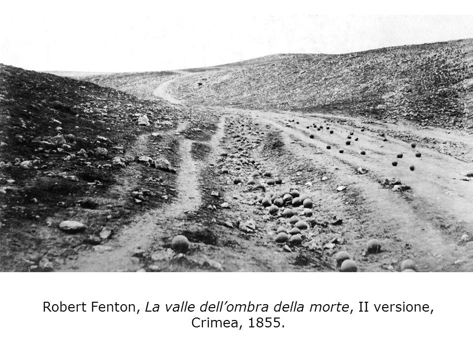 Robert Fenton, La valle dell'ombra della morte, II versione, Crimea, 1855.
