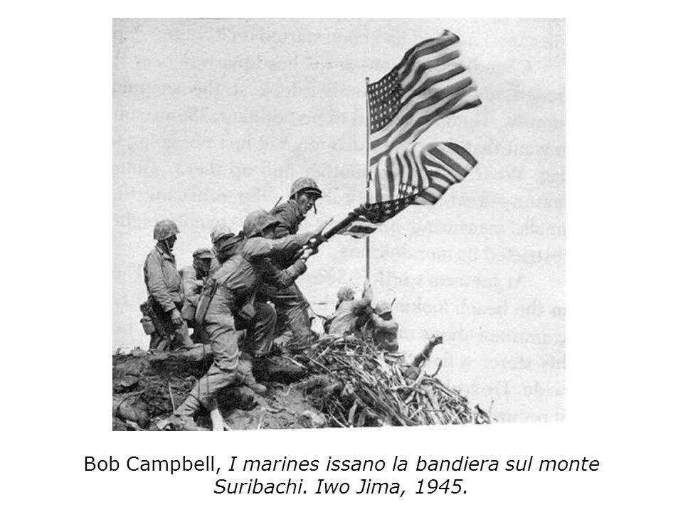 Bob Campbell, I marines issano la bandiera sul monte Suribachi