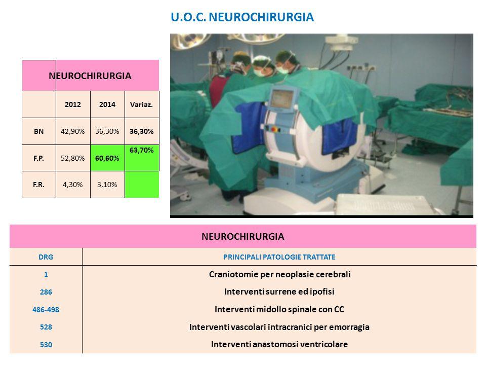 U.O.C. NEUROCHIRURGIA NEUROCHIRURGIA NEUROCHIRURGIA