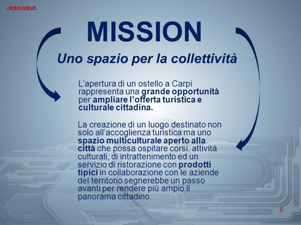 MISSION Uno spazio per la collettività