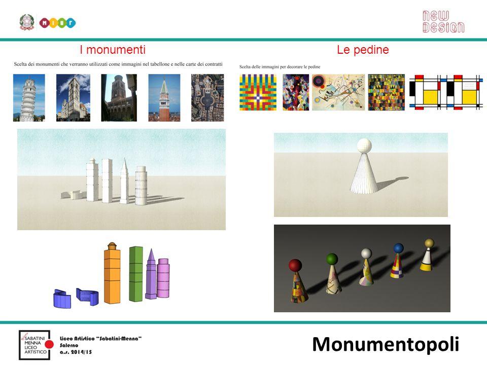 I monumenti Le pedine Monumentopoli