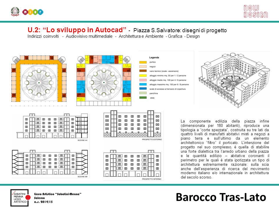 U. 2: Lo sviluppo in Autocad - Piazza S