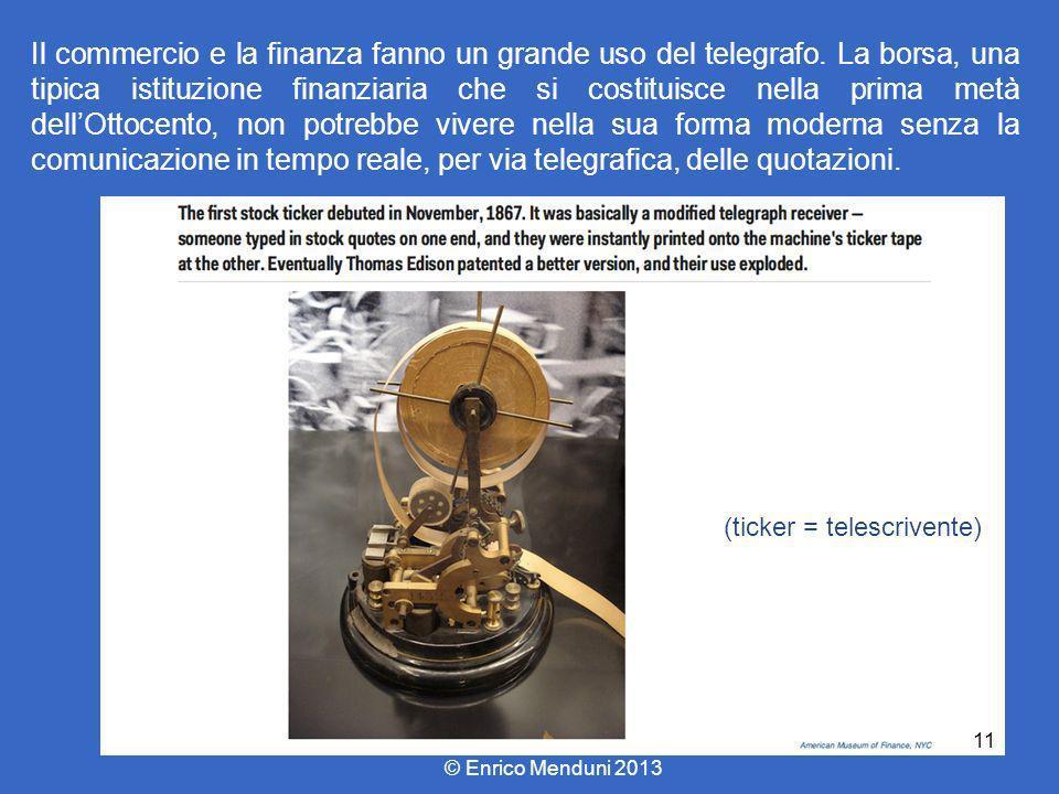 Il commercio e la finanza fanno un grande uso del telegrafo