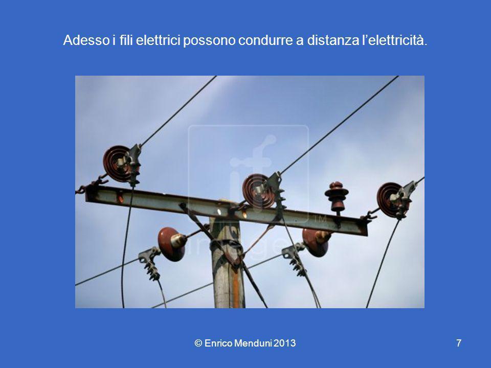 Adesso i fili elettrici possono condurre a distanza l'elettricità.