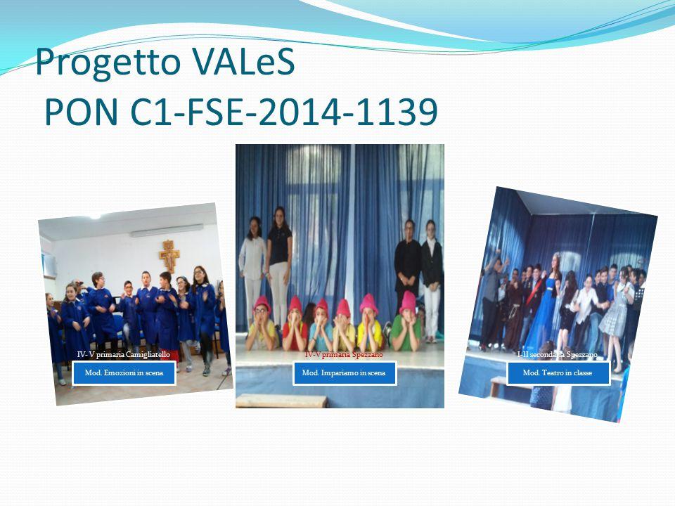 Progetto VALeS PON C1-FSE-2014-1139