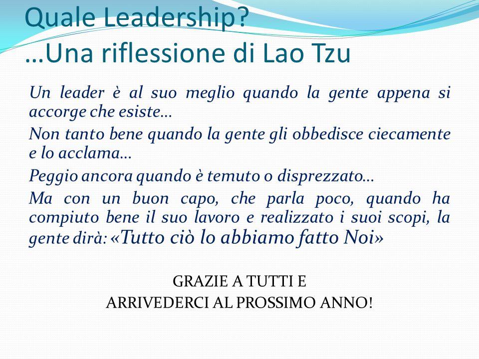 Quale Leadership …Una riflessione di Lao Tzu