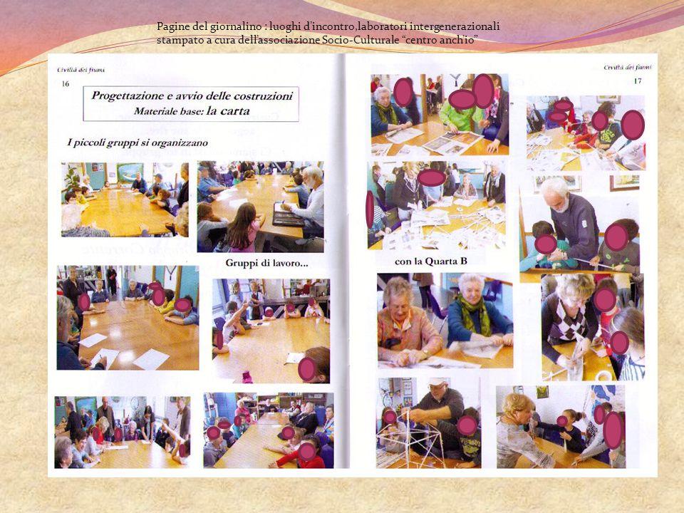 Pagine del giornalino : luoghi d'incontro,laboratori intergenerazionali