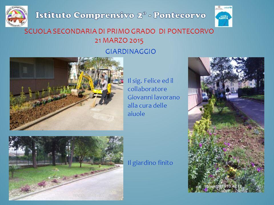Scuola secondaria di primo grado di pontecorvo 21 marzo 2015