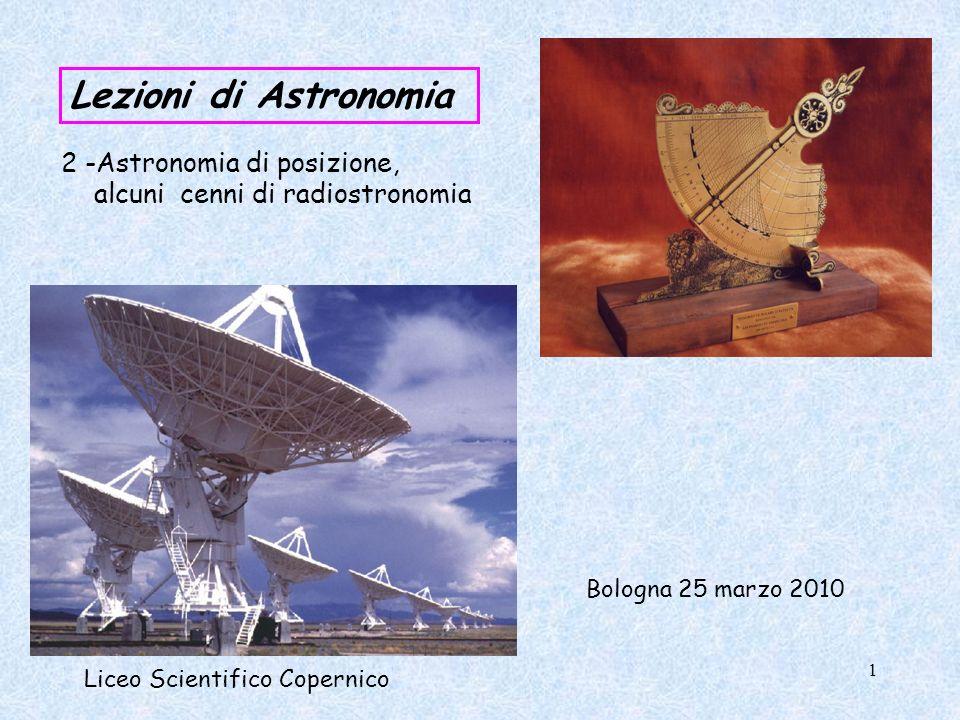 Lezioni di Astronomia alcuni cenni di radiostronomia