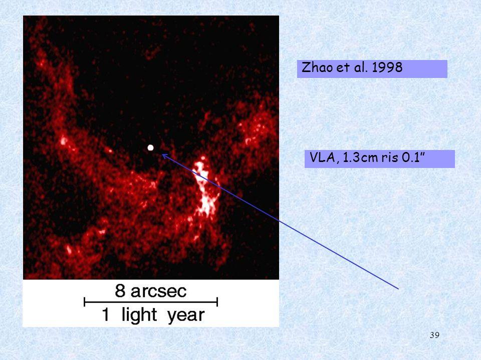 Zhao et al. 1998 VLA, 1.3cm ris 0.1
