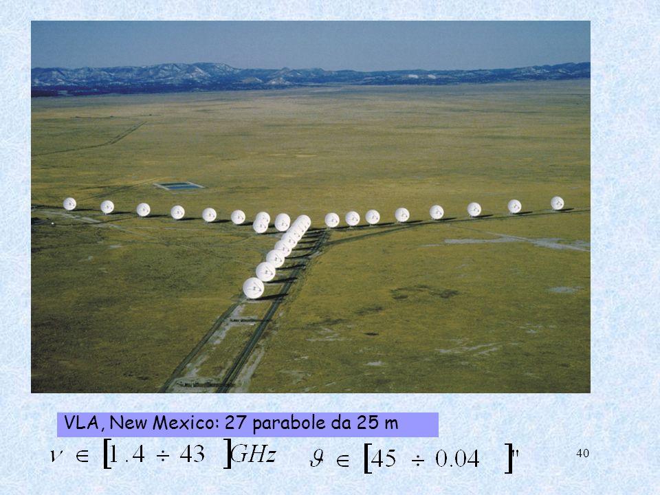VLA, New Mexico: 27 parabole da 25 m