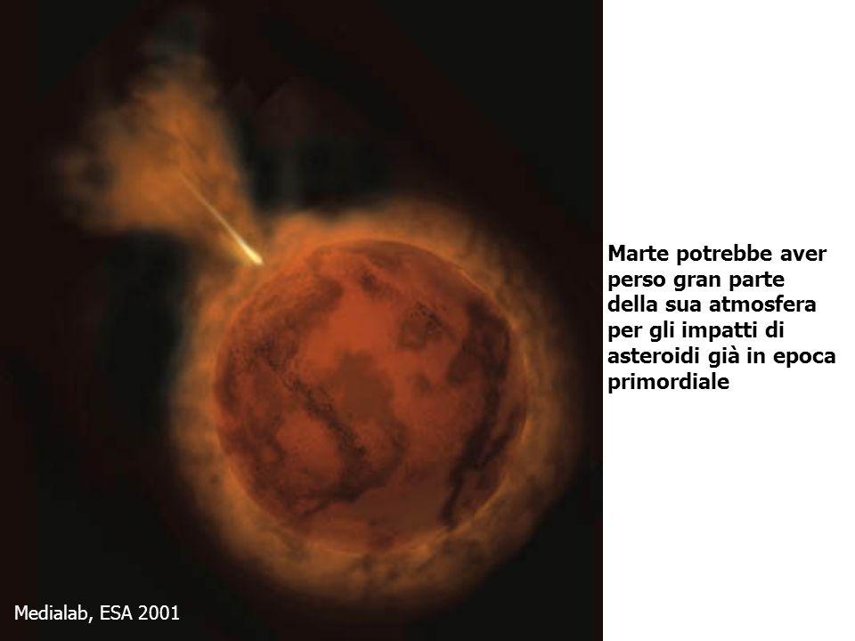 Marte potrebbe aver perso gran parte della sua atmosfera