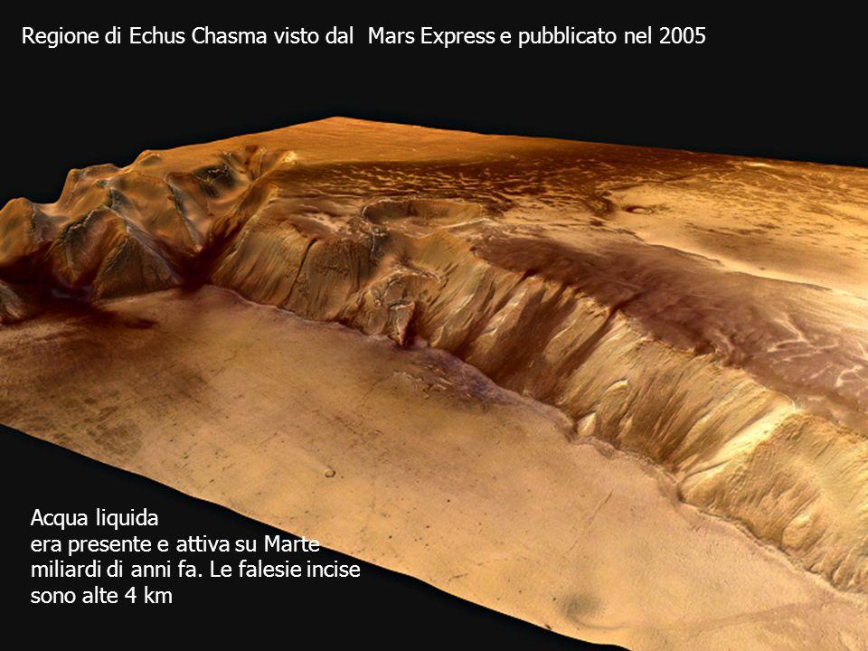 Regione di Echus Chasma visto dal Mars Express e pubblicato nel 2005