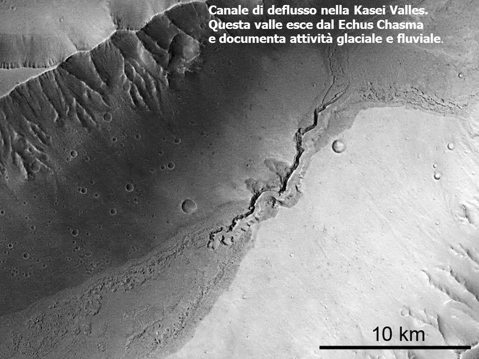 Canale di deflusso nella Kasei Valles.