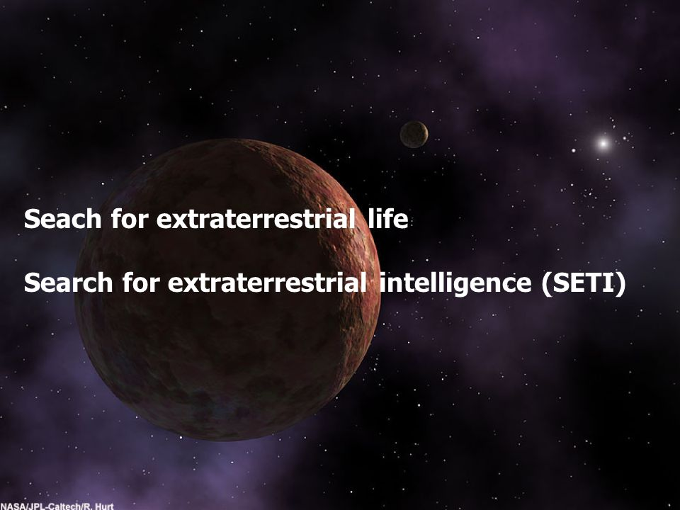 Seach for extraterrestrial life