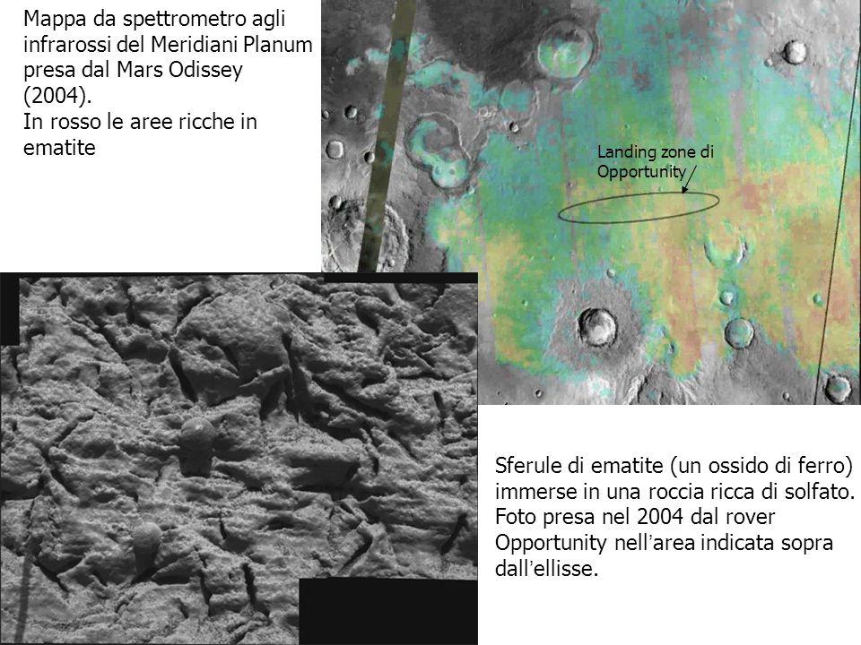 Mappa da spettrometro agli infrarossi del Meridiani Planum