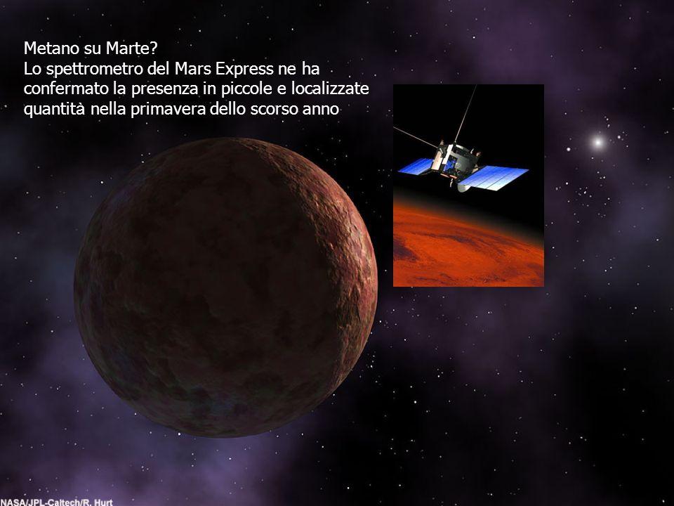 Metano su Marte Lo spettrometro del Mars Express ne ha. confermato la presenza in piccole e localizzate.
