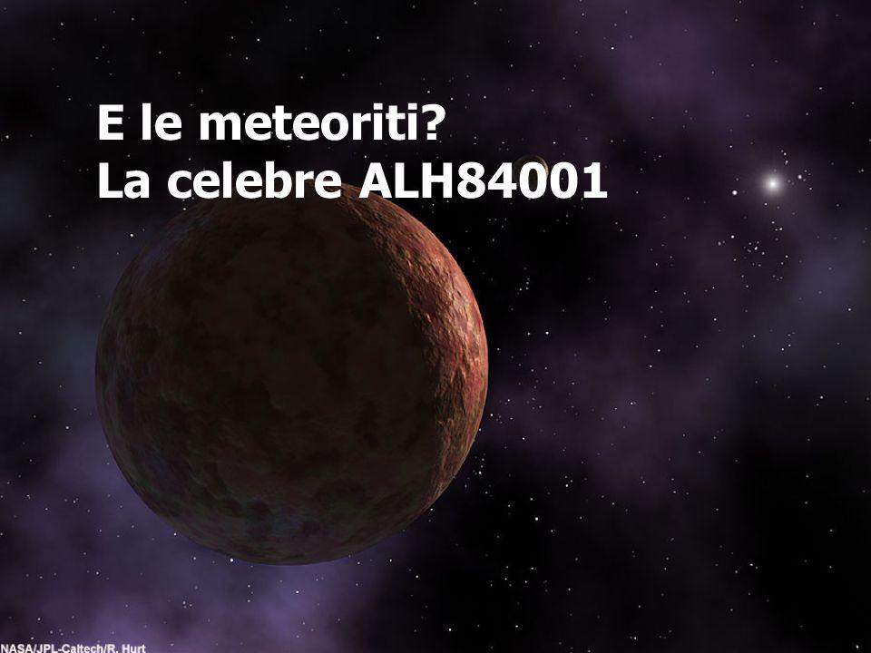 E le meteoriti La celebre ALH84001