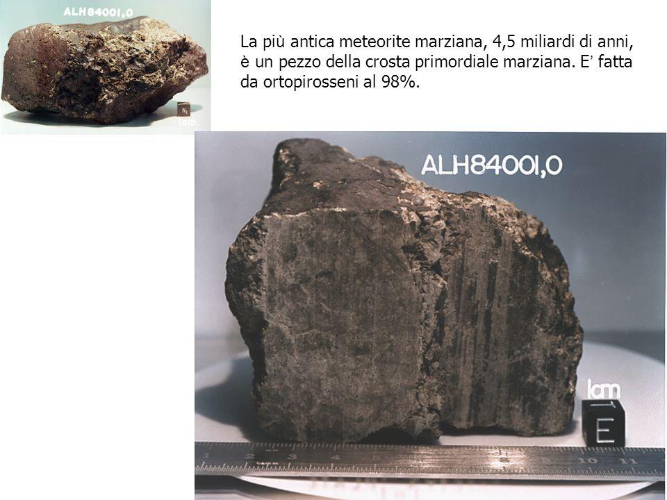 La più antica meteorite marziana, 4,5 miliardi di anni,