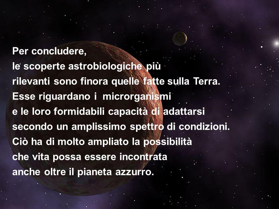 le scoperte astrobiologiche più