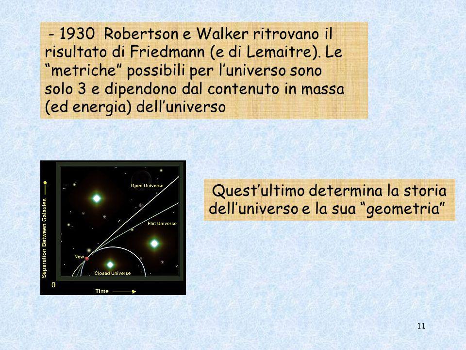 solo 3 e dipendono dal contenuto in massa (ed energia) dell'universo