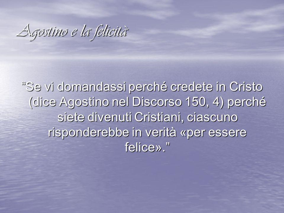 Agostino e la felicità