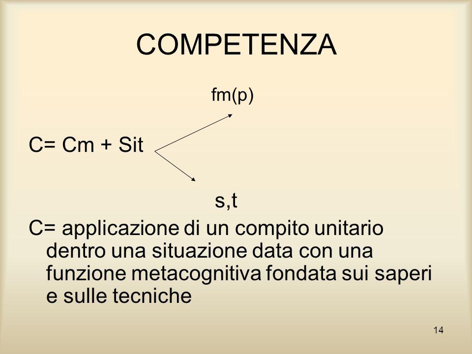 COMPETENZA C= Cm + Sit s,t