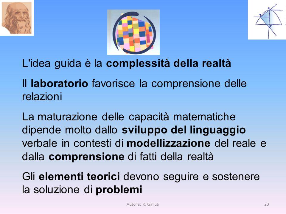 L idea guida è la complessità della realtà