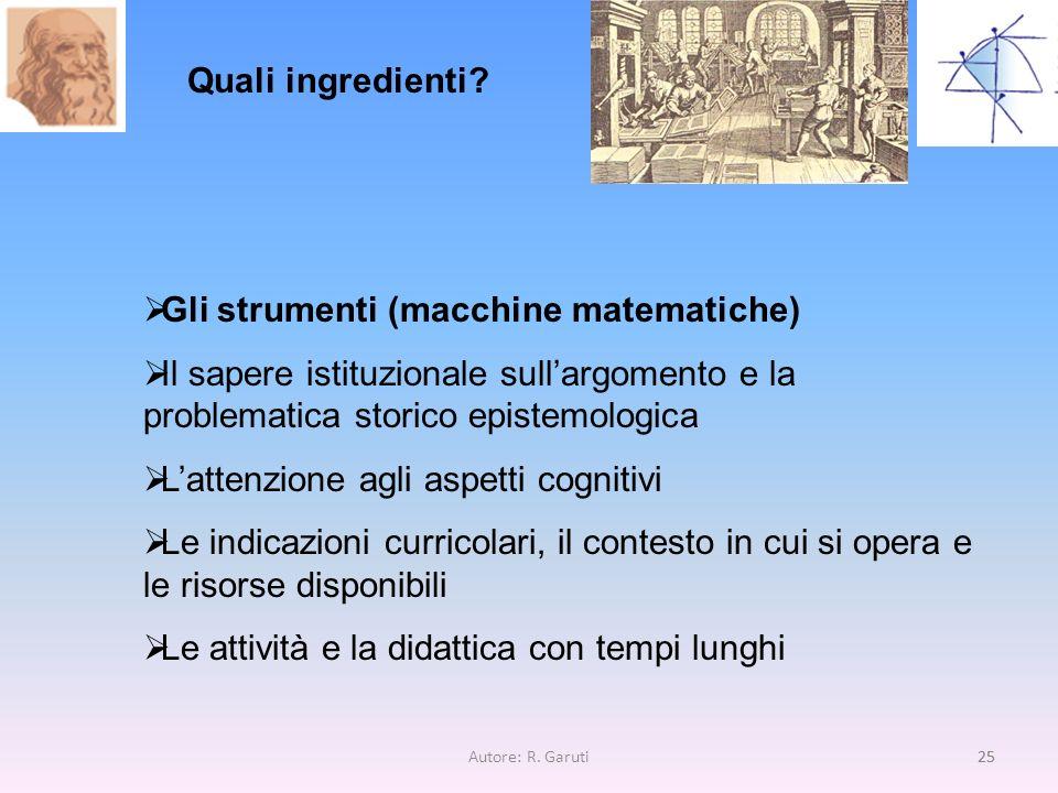 Gli strumenti (macchine matematiche)