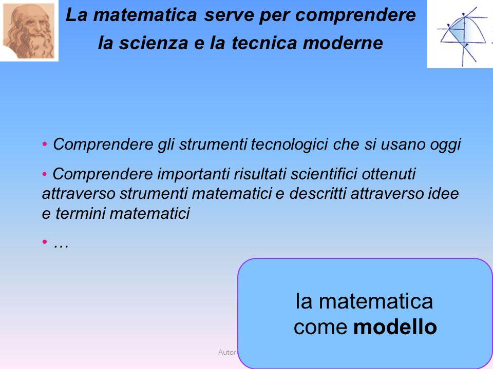 La matematica serve per comprendere la scienza e la tecnica moderne