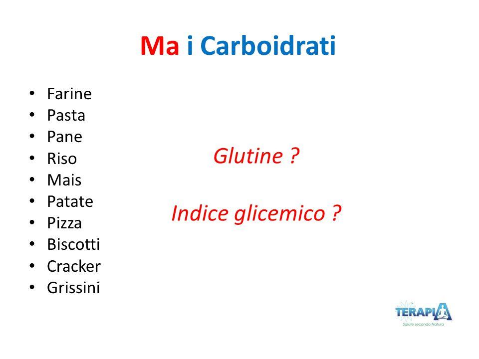 Ma i Carboidrati Glutine Indice glicemico Farine Pasta Pane Riso