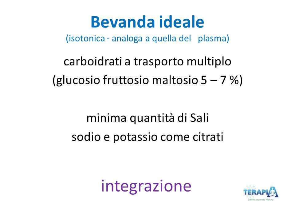 Bevanda ideale (isotonica - analoga a quella del plasma)