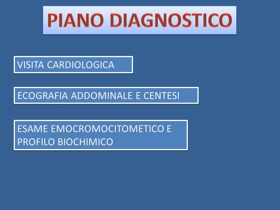 PIANO DIAGNOSTICO VISITA CARDIOLOGICA ECOGRAFIA ADDOMINALE E CENTESI