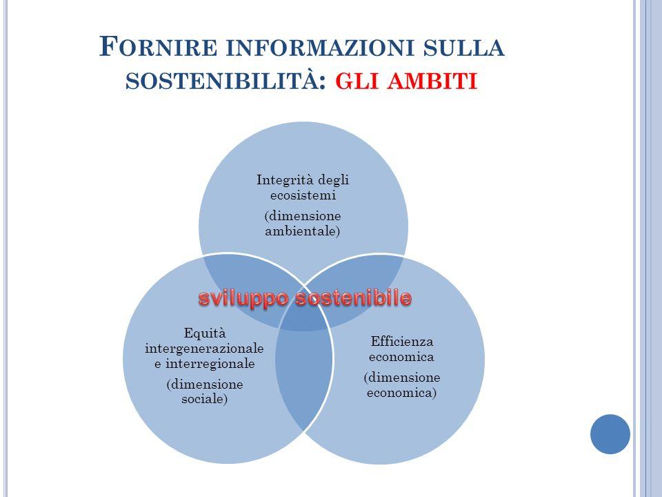 Fornire informazioni sulla sostenibilità: gli ambiti