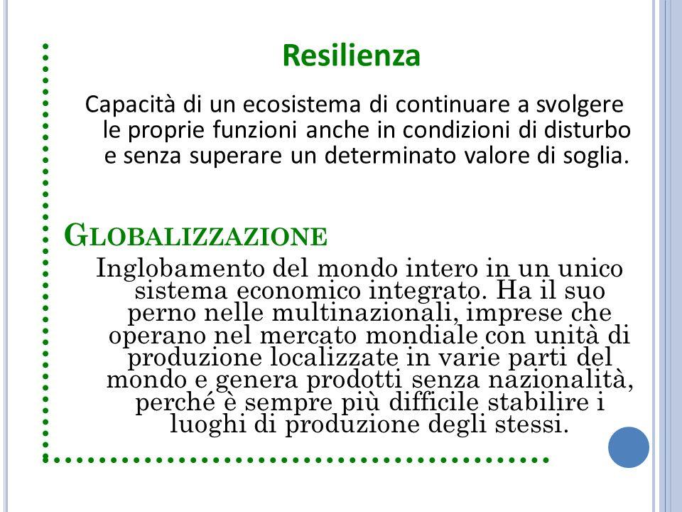 Resilienza Globalizzazione