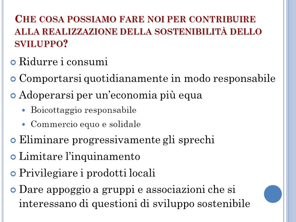 Comportarsi quotidianamente in modo responsabile