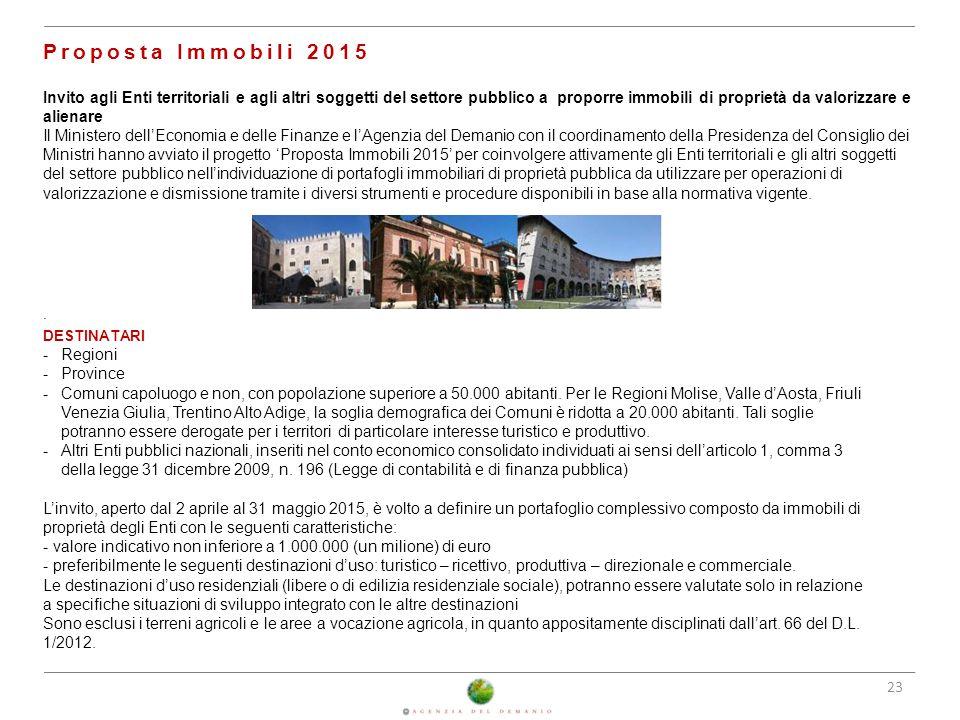 25/02/2014 Proposta Immobili 2015.