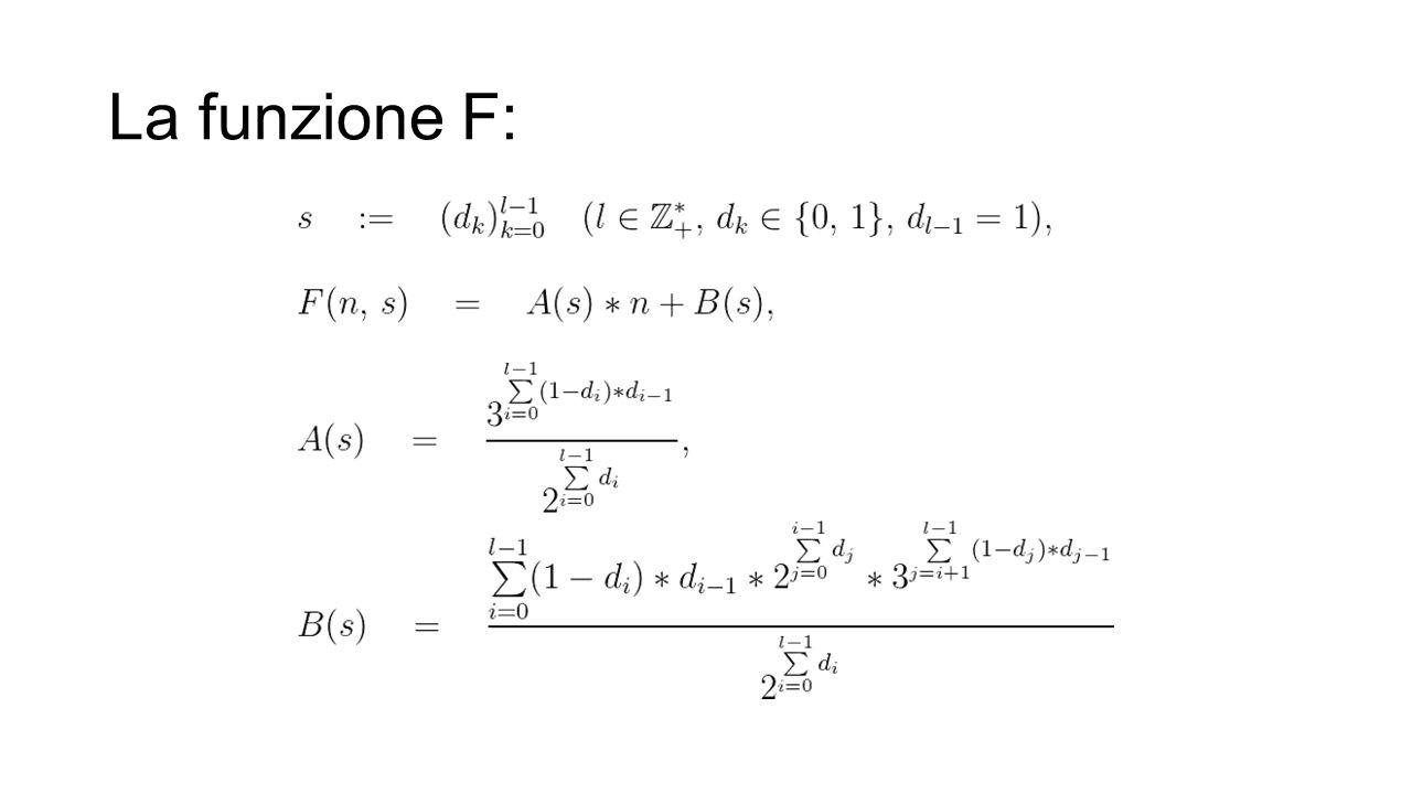 La funzione F: