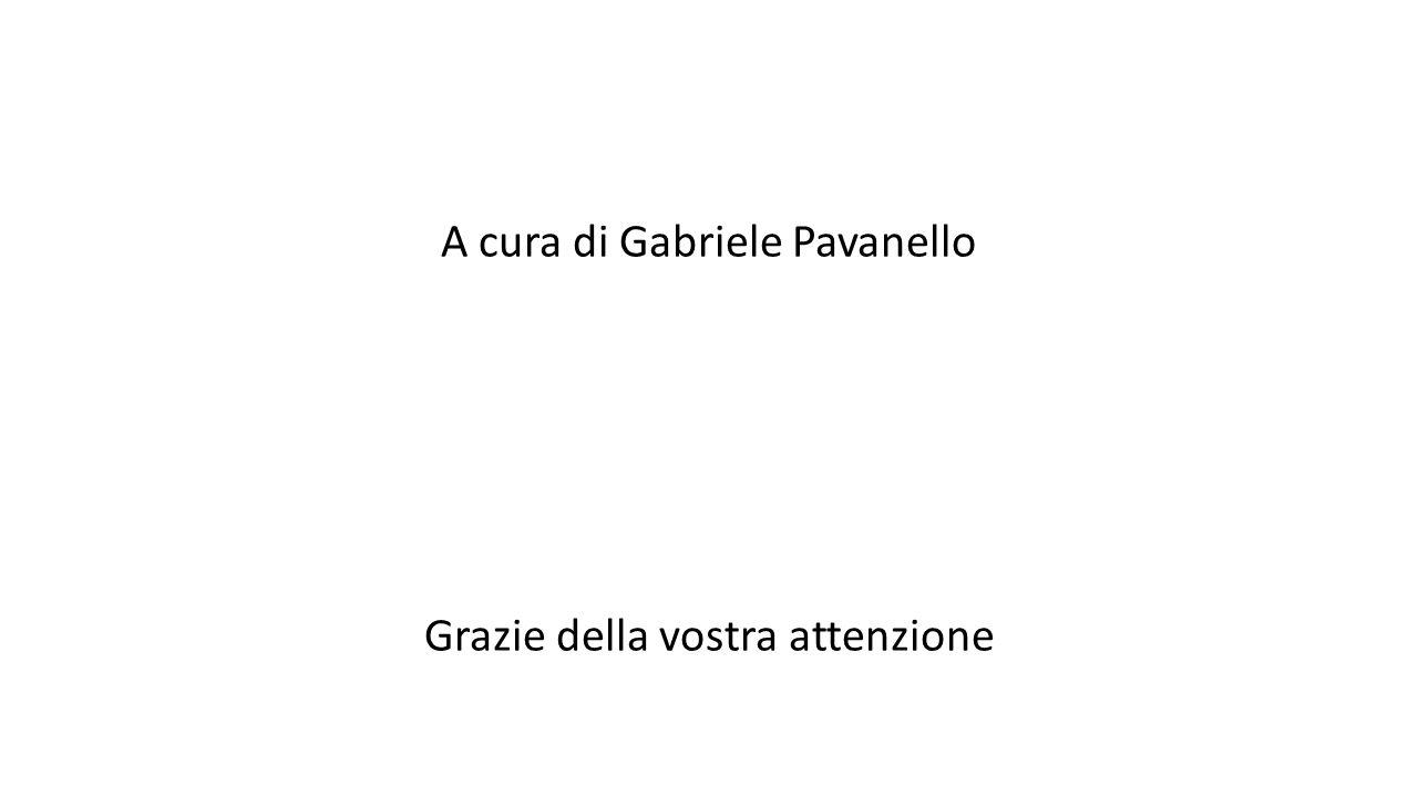 A cura di Gabriele Pavanello Grazie della vostra attenzione