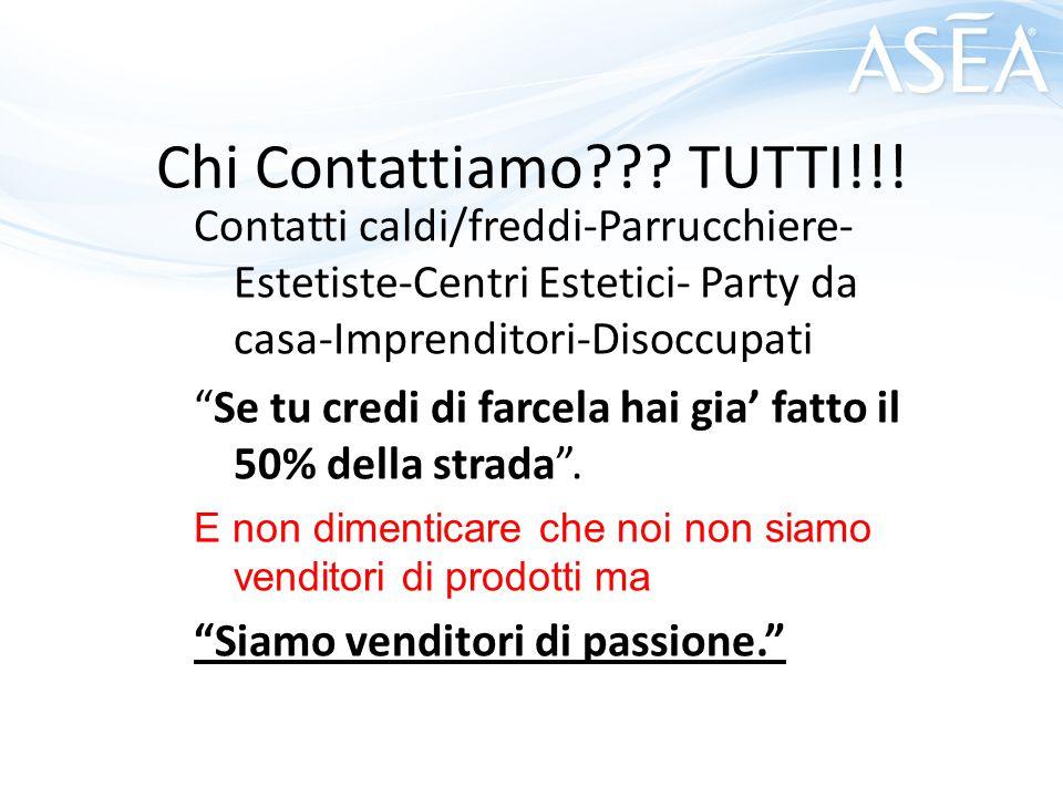 Chi Contattiamo TUTTI!!! Contatti caldi/freddi-Parrucchiere-Estetiste-Centri Estetici- Party da casa-Imprenditori-Disoccupati.
